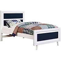 HOMES: Inside + Out ioHOMES Caprica Contemporary Bed, Twin, Blue/White