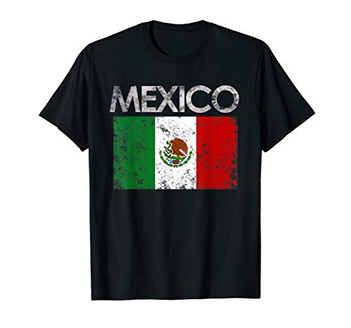 Vintage Mexico Mexican Flag Pride Gift - Mexico Flag T-shirt