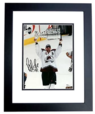 Ray Bourque Autographed - Hand Signed Colorado Avalanche 8x10 Photo - BLACK CUSTOM Frame - Guaranteed to pass PSA or JSA - Hall of Famer