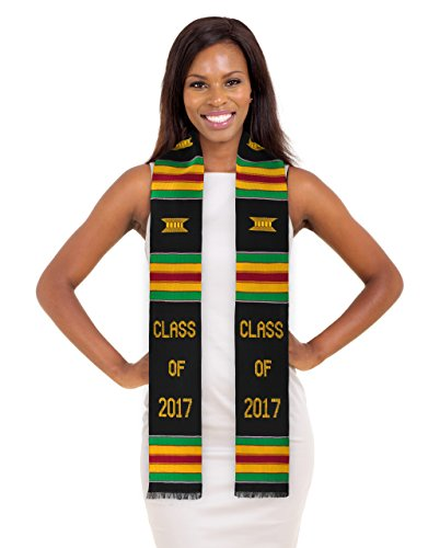 Class Of 2017 Kente Cloth Graduation Stole  Class Of 2017