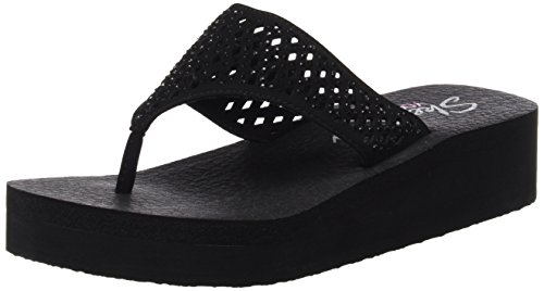 Skechers Cali Women's Vinyasa Flow Wedge Sandal, Black/Black Cutout, 8 B(M) ()