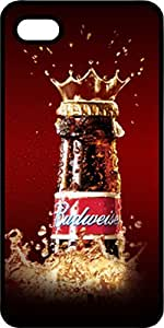 Budweiser Beer Bottle Crown Black Plastic Case for Apple iPhone 4 or iPhone 4s
