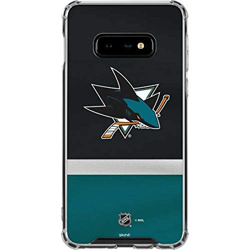 a3437fda18c Image Unavailable. Image not available for. Color: Skinit San Jose Sharks  Jersey Galaxy S10e Clear Case ...