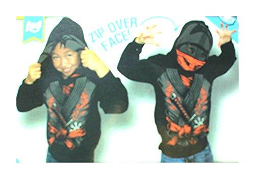[Boy's Costume Hoodie Jacket - Punk Rock Skeleton 14/16] (Boys Skeleton Sweatshirt Hoodie Costumes)