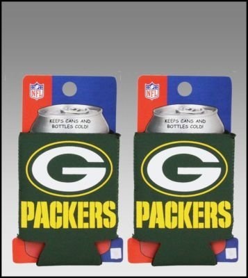 SET OF 2 GREEN BAY PACKERS NFL CAN KADDY KOOZIES by Kolder