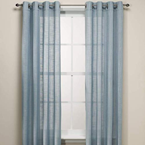 (B. Smith Origami Grommet 95 Inch Window Curtain Panel in Blue)