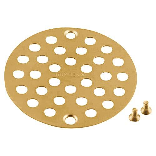Moen Shower Drain Cover - Moen 102763BG Collection 4-Inch Screw-In Shower Strainer Drain Cover, Brushed Gold