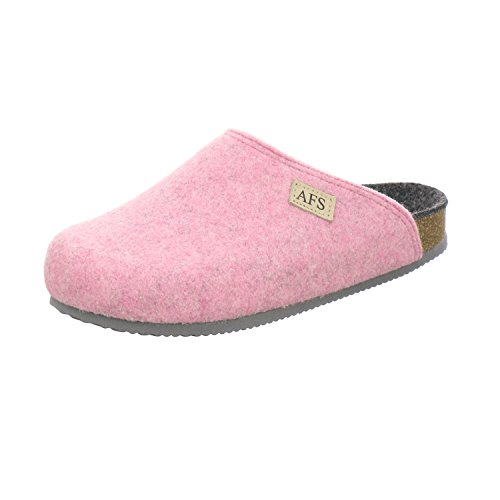 AFS-Schuhe 26910 Filz Hausschuhe Damen, Bequeme, Warme Winter Pantoffeln Rose