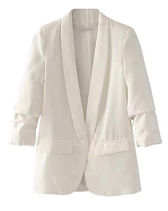 Mujeres Blazer Elegante Oficina Traje de Chaqueta Outwear ...