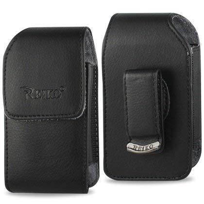 Vertical Leather Case for Alcatel One Touch Retro, Fling, Speakeasy Flip Phone, with Swivel Belt Clip and Magnetic Closure. ()
