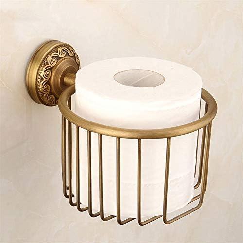 トイレットペーパーホルダーの壁にはバスルームストレージ、ブロンズのためのヴィンテージ真鍮浴室のロールティッシュワイヤーバスケットディスペンサー防錆ティッシュペーパーロールホルダーをマウント