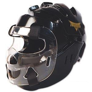 ProForce Thunder Full Headgear w/ Face Shield - Black - X-Large - Headgear Face Shield