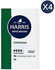Harris Espresso Ground Coffee (1kg x 4 Packs)