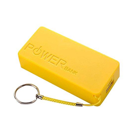 Huangou ❤ DIY Power Bank Case Box ❤ 5600mAh 2X 18650 USB Power Bank Battery Charger Case DIY Box for iPhone Sumsang (Yellow, ()