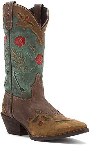 Laredo Women's Miss Kate Western Boot,Brown/Teal,8.5 M US