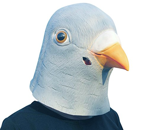 LUBBER Halloween Costume Pigeon Bird Latex Animal Head (Cool Halloween Costumes For Ten Year Olds)