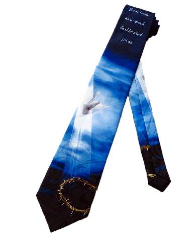 Steven Harris Mens Jesus Holy Spirit Crown of Thorns Necktie - Black - One Size Neck Tie