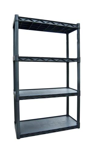 Plano Molding 904 Four-Shelf Utility Shelving, Dark Gray - Four Utility Shelves