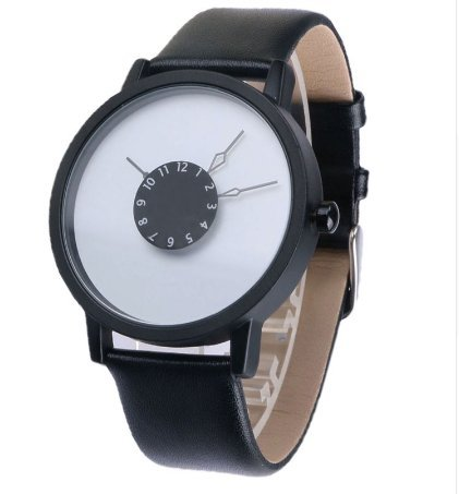 Unisex Leather band Fashion Casual Wrist Watch Men Women (Mens Watches Fossil Cheap)