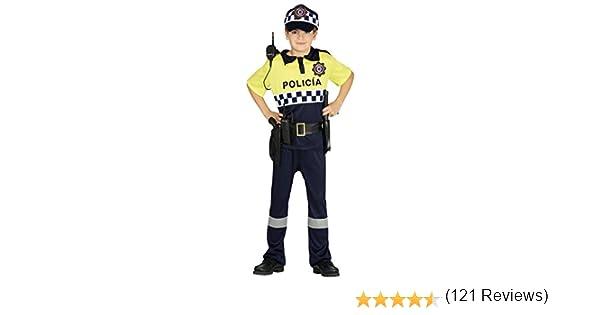 Guirca- Disfraz policía local, Talla 5-6 años (87508.0): Amazon.es ...