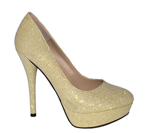 Elara compensées Doré Or chaussures femme rpqx8w5rnX