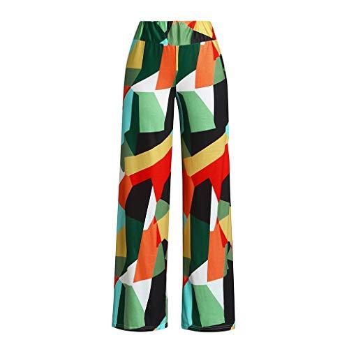 Palazzo Pants for Women,SMALLE◕‿◕ Womens High Waist Yoga Pants Color Block Boho Print Wide Leg Palazzo Pants ()