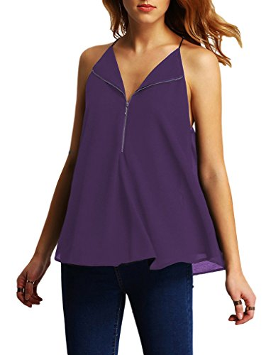 Top shirt Mousseline V T Soie Bigood Col D Femme Blouse Chemise de U17Agwxq