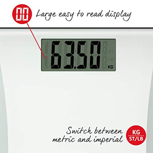 Salter WH3R Glass Body Fat Analyser Bathroom Scale