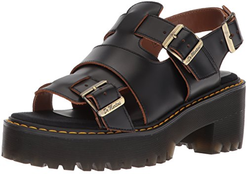 Dr.Martens Womens Ariel Leather Sandals Noir