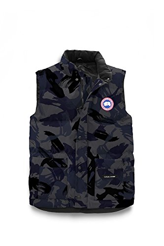 Manting Li Canada Freestyle Crew Vest Couples Style 4154M Round Neck Collar Soft Velvet Lining Comfortable Blue Brush Camo XXL by Manting Li