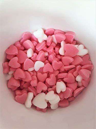 Mini Mezclado Rosa y Blanco Corazones Comestible Confeti ...