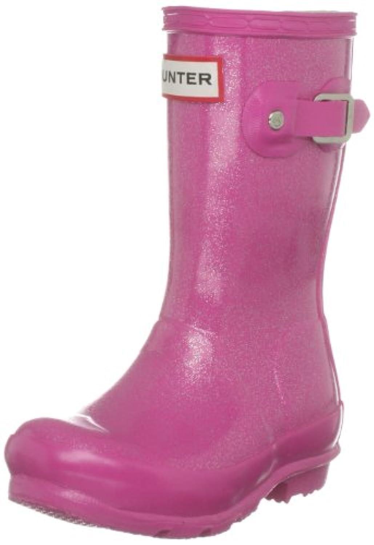 Hunter Orig Glitter Kids Navy Wellington Boot W24183 2 UK
