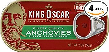 King Oscar Anchovies (Flat) 2 Oz can (Pack of 4) (Best Bolognese Sauce Jar)