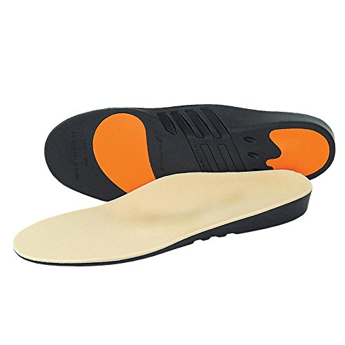 New Balance Men's IPR3010 Pressure Relief Insole,Tan/Black/Orange,9 4E