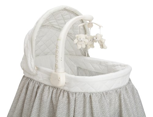 Delta Children Deluxe Gliding Bassinet, Silver Lining  by Delta Children (Image #5)