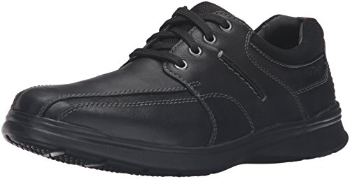Black Leather Casual Oxfords - CLARKS Men's Cotrell Walk Oxford, Black, 14 M US