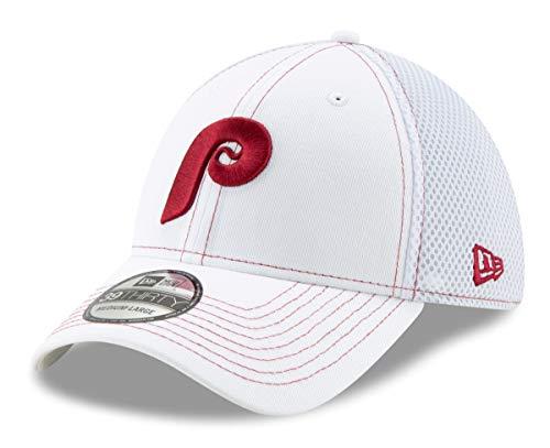 New Era Philadelphia Phillies 39THIRTY Cooperstown White Team Neo Flex Fit ()