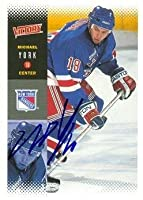 Autograph Warehouse 68197 Mike York Autographed Hockey Card New York Rangers 2000 Ud Victory No. 157