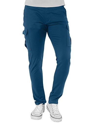 (Match Men's Casual Cargo Pants Outdoors Work Wear(29, 6050 Peacock Blue) )