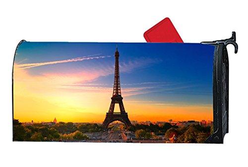 XPNiao Magnetic Garden Yard Mailbox Cover Eiffel Tower Paris France Tourism Travel by XPNiao