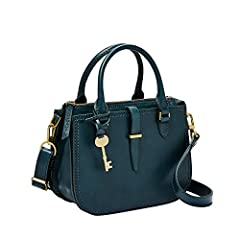 This leather satchel boasts two gusseted slide pockets, double handles and a detachable and adjustable shoulder strap. Our high-quality leather is well-known for its softness and ability to look good over time.