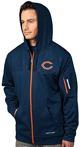 Base Sweatshirt Therma (VF Chicago Bears Majestic Action Men's F/Z Therma Base Hooded Sweatshirt)