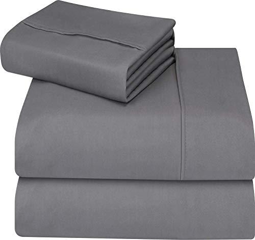 Utopia Bedding - Juego de cama de - Suave y resistente a las manchas. (Cama 90, Gris)