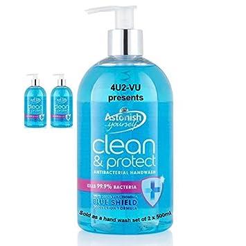 Limpiador de,Clean & Protect Handwash, antibacteriano jabón un dispensador de jabón líquido,