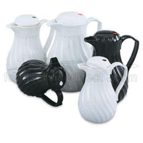 Swirl Beverage Server Insulated 64 oz. White (Pitcher Vollrath Water)