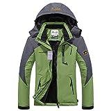 Alomoc Men's Winter Hiking Jacket Waterproof Softshell Snowboard Coats with Hood