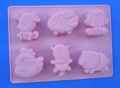 - Chinese zodiac animals #1 Silicone cake mold Soap molds Decoration mould