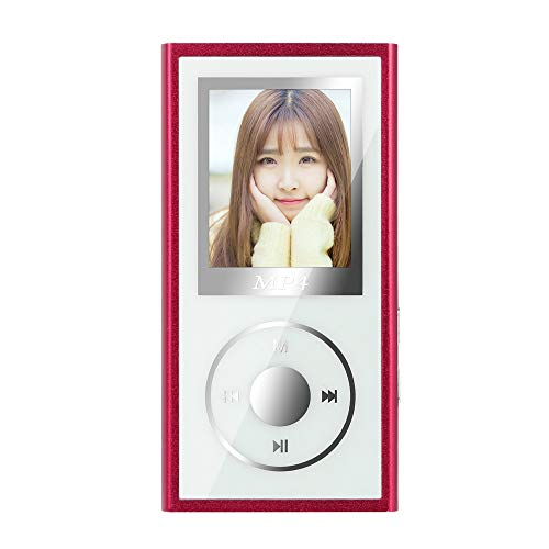 Aritone – Electronics 4G MP3 MP4 Player,Lightweight Portable Digital Music Player Gift for Kids Learning,Support FM Radio Voice Recorder Media Video (Red)