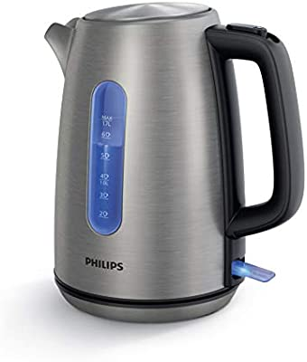 Philips HD9357/12 Electric Kettle, 1.7 L, Silver, Stainless Steel