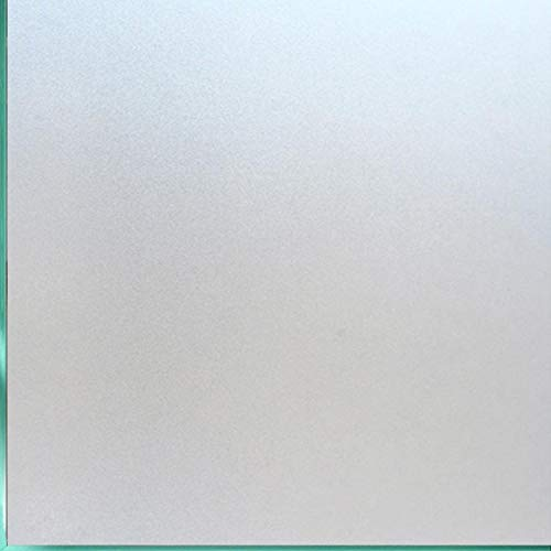 Coavas 35.5 x 78.7 inch Wide Window Film Non-Adhesive Frosted Privacy Film Glass Film Self Static Window Cling for Home Kitchen Office Bathroom White 029DH